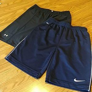 Nike and Under Armour Short Bundle Boy's Sz M